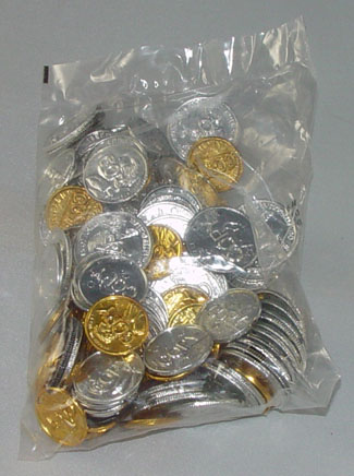 Bag of  US Plastic Play Coins