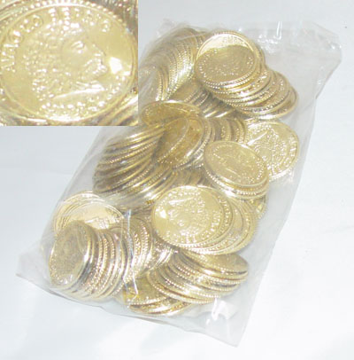 Shiny Gold Coins Bag
