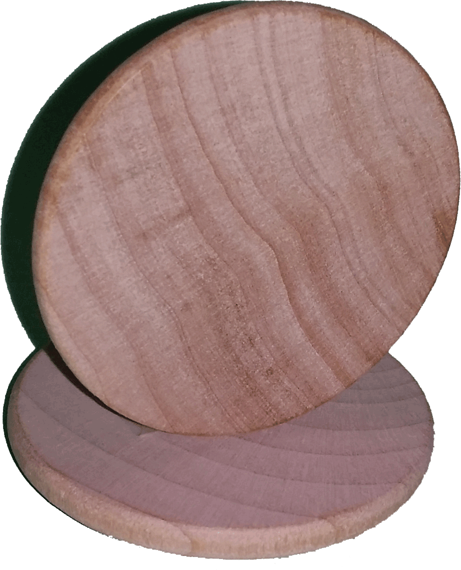 Wooden Nickel Blank Rounded/Beveled Edges
